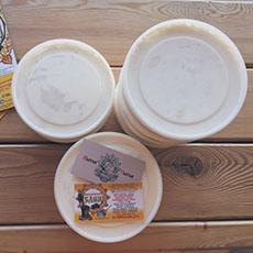 Фермерские сливки и сметана в нашем кафе «Мытые и сытые».